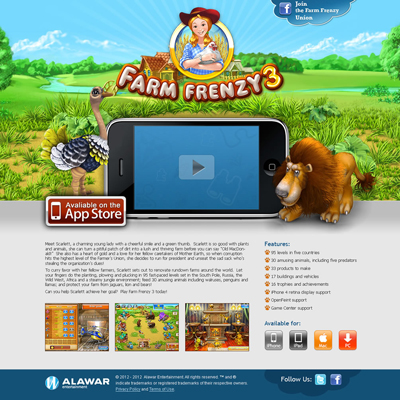 Farm frenzy — promo graphic